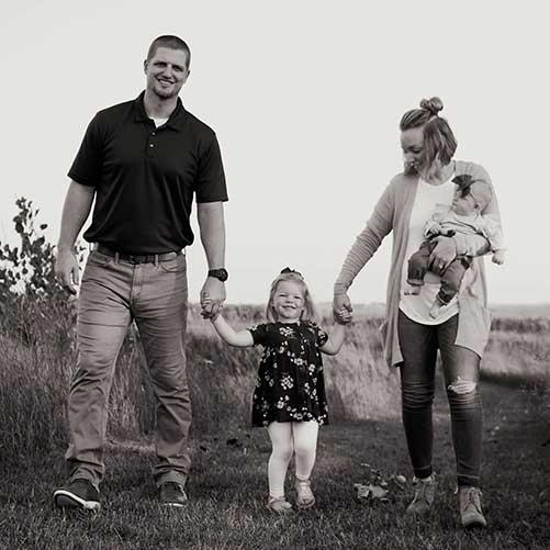 Chiropractor Britt IA Dr. Brady Wilson and Family