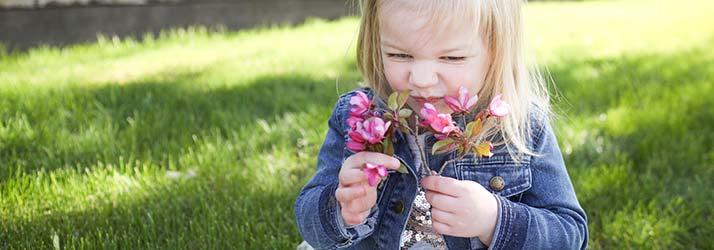 Chiropractor Britt IA Dr. Brady Wilson's Daughter and Flower